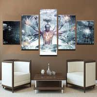 Malerei Modulare Bild Moderne Cuadros 5 Panel Alex Grau Dekoration Leinwand Kunst Rahmen Wand Für Wohnzimmer Kinder Zimmer