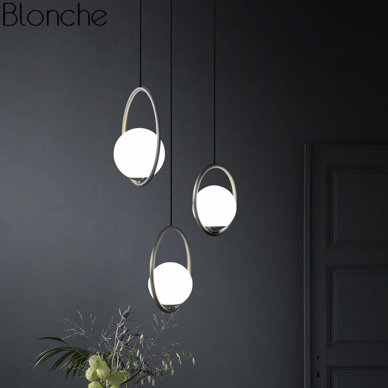 Modern Led Chandelier Restaurant Fixtures Glass Ball Luminaires Nordic Hanging Lights Bedroom Lighting Living Room Pendant Lamps Chandeliers