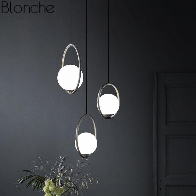 Modern Led Chandelier Restaurant Fixtures Glass Ball Luminaires Nordic Hanging Lights Bedroom Lighting Living Room Pendant Lamps Ceiling Lights & Fans Chandeliers