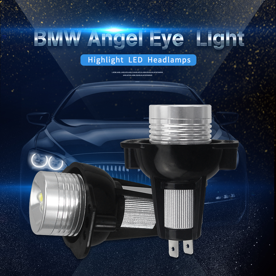 2X 10W For BMW E60 E61 E63 E64 E70 X5 E71 X6 E82 E87 E89 Z4 E90 E91 M3 LED CANBUS Angel Eyes light Headlight Lamp White 2pcs led license plate light lamp 24 smd led license plate light lamp white error free for bmw e39 e60 e61 e90 e91 m3 m5 x5 x6