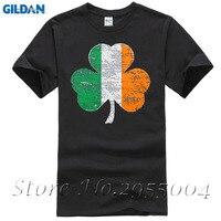 2017 Hot High Quality Cotton Irish Flag Funny T Shirt For Men Mans Unique Cotton Short