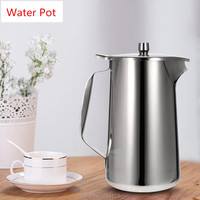 Cold Water Pot Food grade Stainless Steel High Quality Kitchenware Ice Tea Jug Kettle Water Pitcher Lid and Spout Noble pot