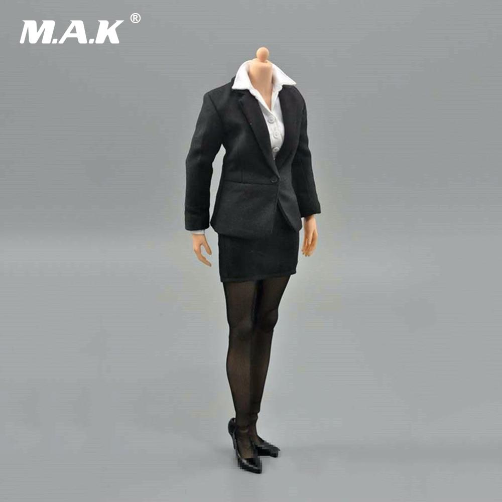 1/6 femme d'affaires bureau crayon jupe costume ensemble vêtements modèle jouets pour 12