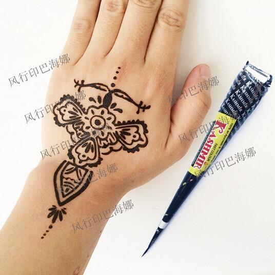 1pc x india henna tatoeages plakken tijdelijke tattoo. Black Bedroom Furniture Sets. Home Design Ideas
