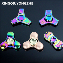 Hot Selling EDC Toys Triangular Hand Spinner Color Metal Hand Spinner ADHD Profession Tri Spinner Fidget