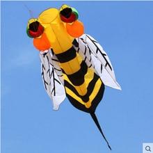 Высокое качество 3 м пчелы мягкий воздушный змей, летающие игрушки с панелью управления линией diamond лица динозавр воздушные листовые змеи с катушка королева кайт