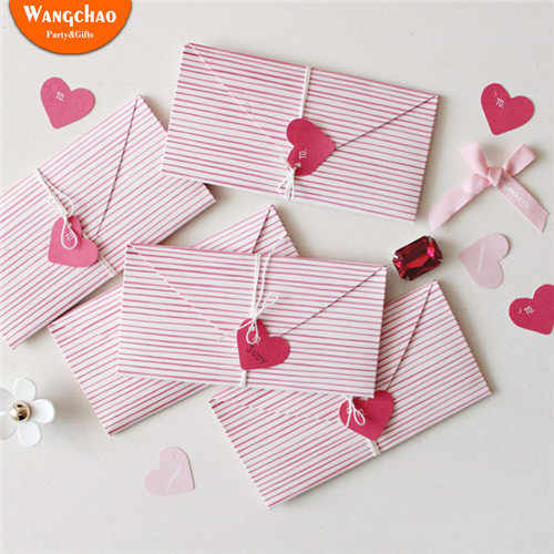2pcs/bag Love Heart Mini Greeting Card Valentine's Day Gift Card Creative DIY Cards Happy Birthday Card Wedding Invitation Card