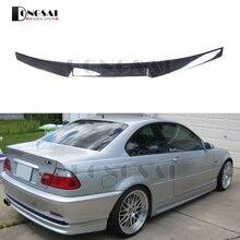 Углеродного волокна E46 M4 Стиль спойлер для BMW 3 серии задний багажник крылья глянцевый черный 1998-2004