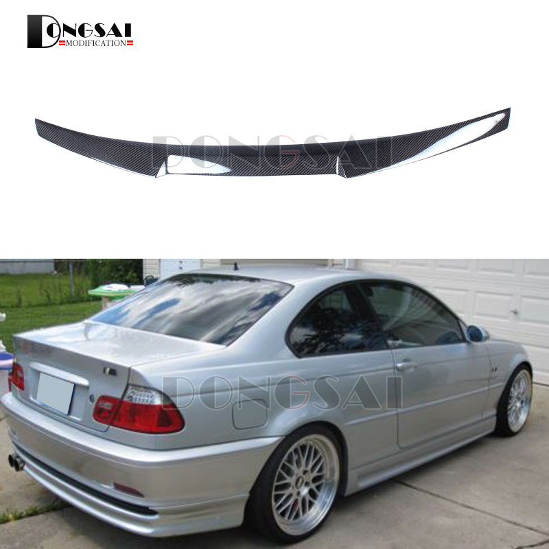 BMW 3 Series Accessories >> Carbon Fiber E46 M4 Style Spoiler for BMW 3 Series Rear Trunk Wings 2 door Gloss Black 1998 2004 ...