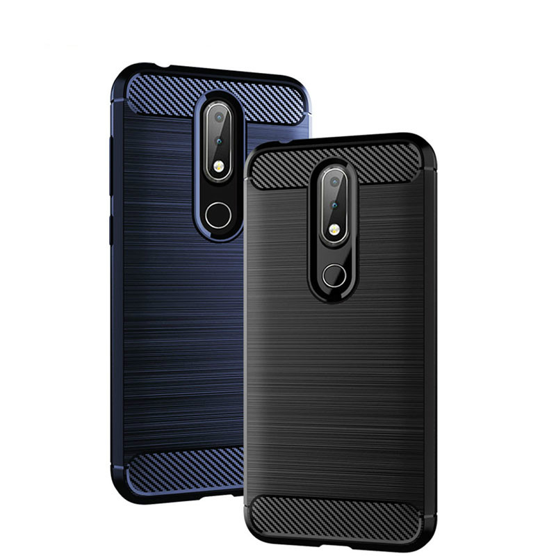 Image 1 - Soft TPU Brushed Case for Nokia 6.2 4.2 3.2 2.2 1Plus Carbon Fiber Cover for Nokia X71 X7 X6 X5 X3 8.1 7.1 6.4 5.1 3.1 Plus Case-in Fitted Cases from Cellphones & Telecommunications