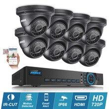 8-КАНАЛЬНЫЙ Onvif 720 P AHD DVR 1280TVL ANNKE Наружного Наблюдения Камеры Системы Безопасности