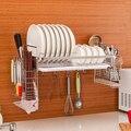 Edelstahl Küche Hängen Abtropfbrett Ablauf Rack Rack Wand Hängen Messer Halter Haken Einzigen Schicht