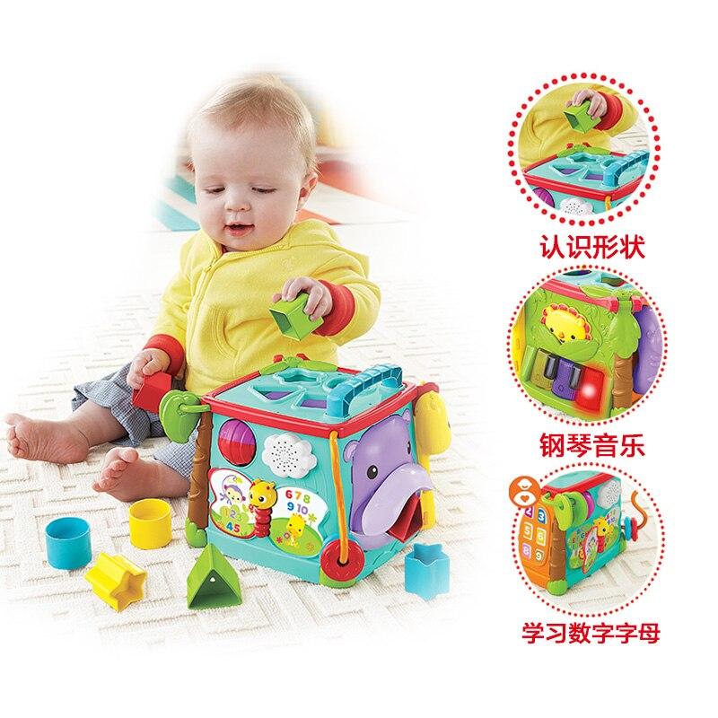 Fisher Price marque bébé jouets d'apprentissage jouer et apprendre activité Cube occupé boîte jouets éducatifs pour enfants enfant cadeau d'anniversaire - 5
