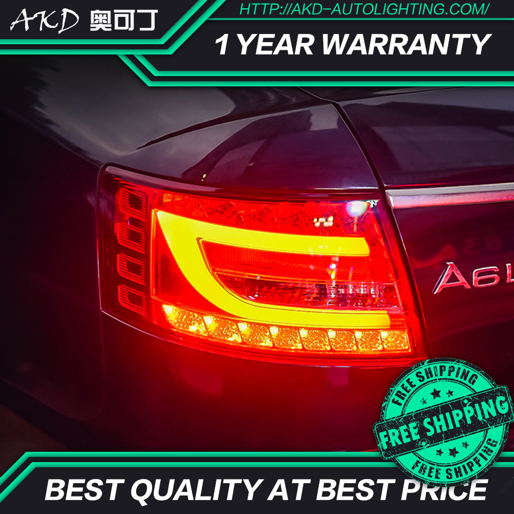 AKD tuning cars Tail lights For Audi A6 2004 2008 Taillights LED DRL Running lights Fog
