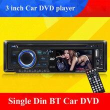 universal 1 single Din 3 inch Car DVD player with bluetooth audio Radio stereo USB SD