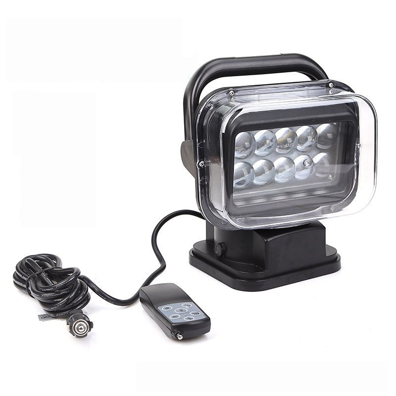 T5180 Intelligent wireless remote control car searchlight Boat Car Spotlight 360 degrees Rotate Emergency Light Y