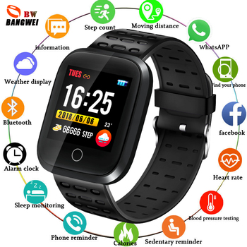 Smart Watch Men Heart Rate Blood Pressure Monitor LED Smart Watch Fitness tracker Pedometer Women Sport Watch for IOS Android women smart watch sports fitness tracker blood pressure heart rate monitoring waterproof pedometer men smart watch ios android