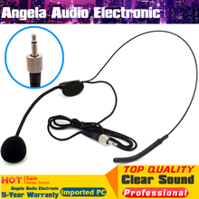 Headworn Headset Condenser Microphone 3 5mm Screw Lock Plug Microfone Microfono Mike For PC Wireless System