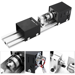 Image 5 - مخرطة آلة أداة مخرطة ميكانيكية صغيرة تورنو آلة طحن باستخدام الحاسب الآلي لتقوم بها بنفسك مخرطة النجارة طحن وتلميع أداة ثقب