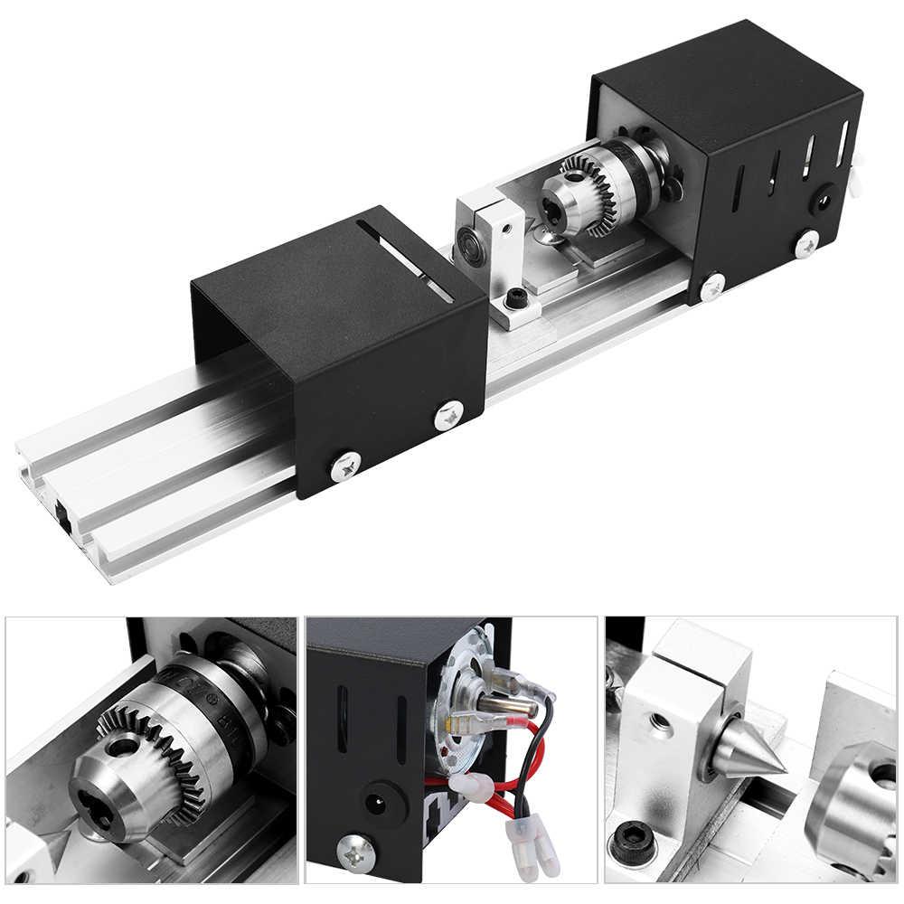Torna makinesi Mini torna Mini Torno CNC freze makinesi DIY ahşap ahşap çalışma torna taşlama ve parlatma matkap aleti