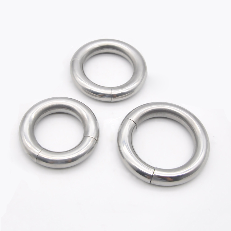 Magnetic cock ring stainless steel ball stretcher scrotum ring metal penis ring sex toy for men cockring ballstretcher weights 5 size for choose heavy duty magnetic stainless steel ball scrotum stretcher metal penis cock ring delay ejaculation sex toy men page 5