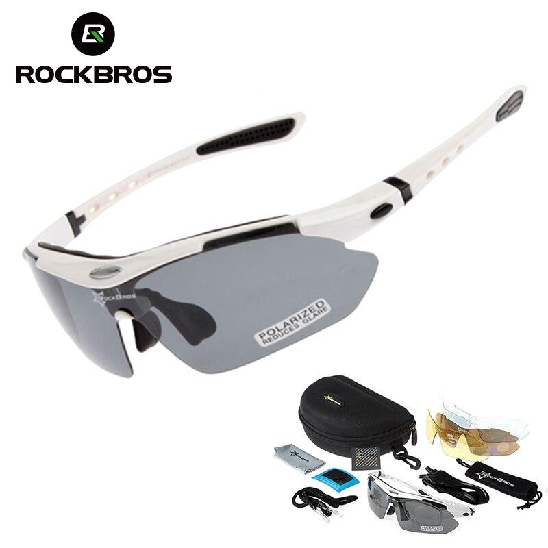 RockBros Polarized Cycling Eyewear Outdoor Sports Bike Bicycle Sunglasses TR90 Goggles Windproof  5 Lens Eyewear Myopia Frame  цены