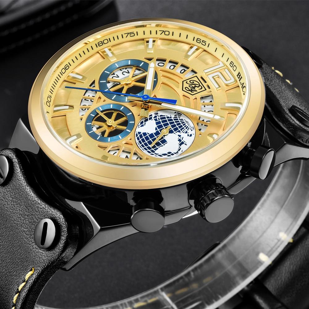 купить BENYAR Large Dial Design Sports Mens Watches Leather Silicone Quartz Military Watch Men Fashion 3D Blue Dial Relogio Masculino онлайн