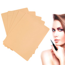 New 5pcs  Permanent Makeup Eyebrow Lips 20 x 15cm Blank Tattoo Practice Skin Sheet for Needle Machine Supply Kit цены онлайн