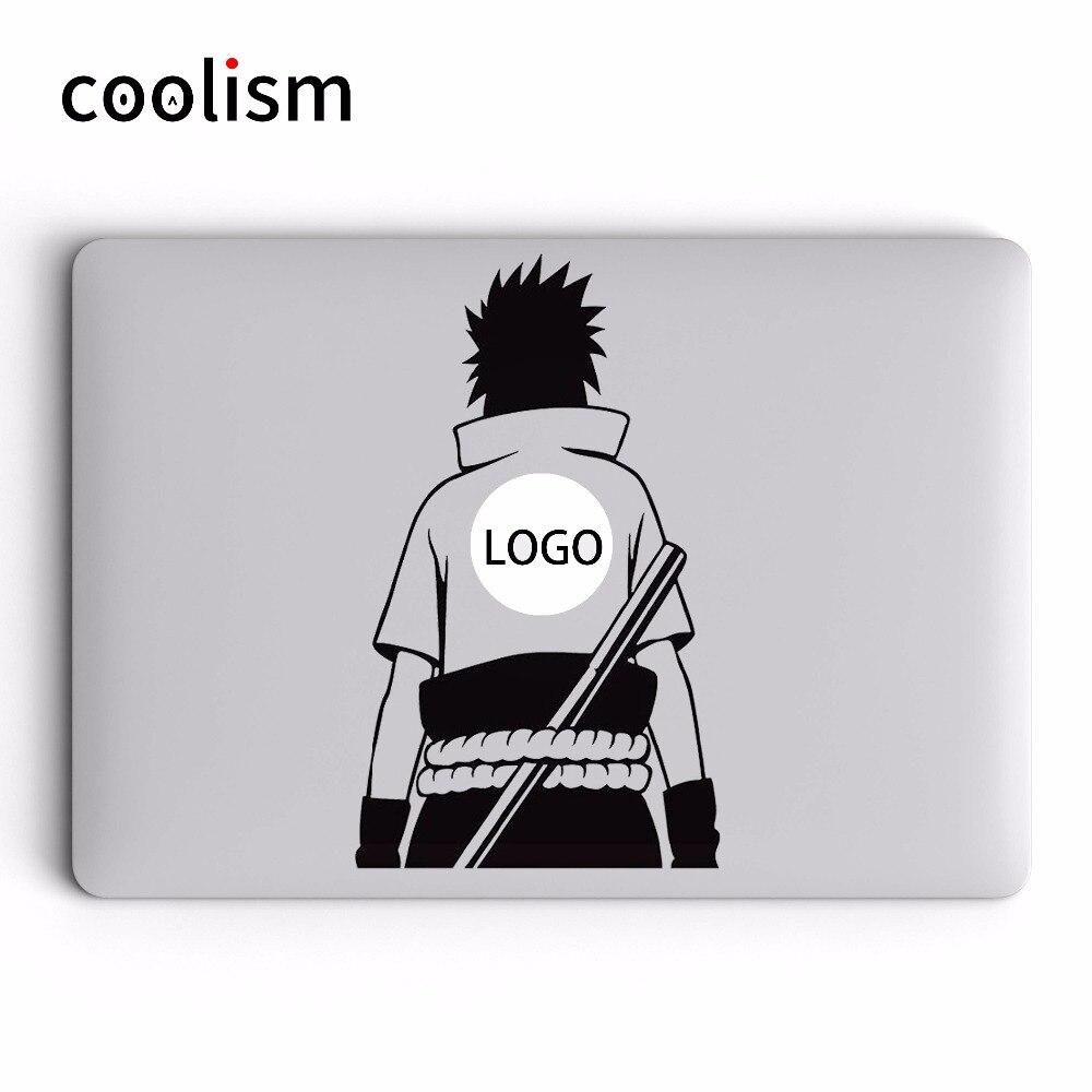 Sasuke back anime naruto laptop sticker for macbook pro decal air retina 11 12 13 15