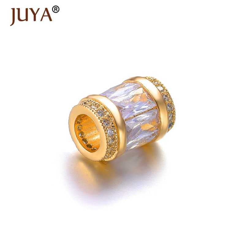 ... Luxury Crystal Beads For Jewelry Making Copper Metal Gold Silver Color  Large Hole European Bead Fit ... e8cbf3bbe4d6