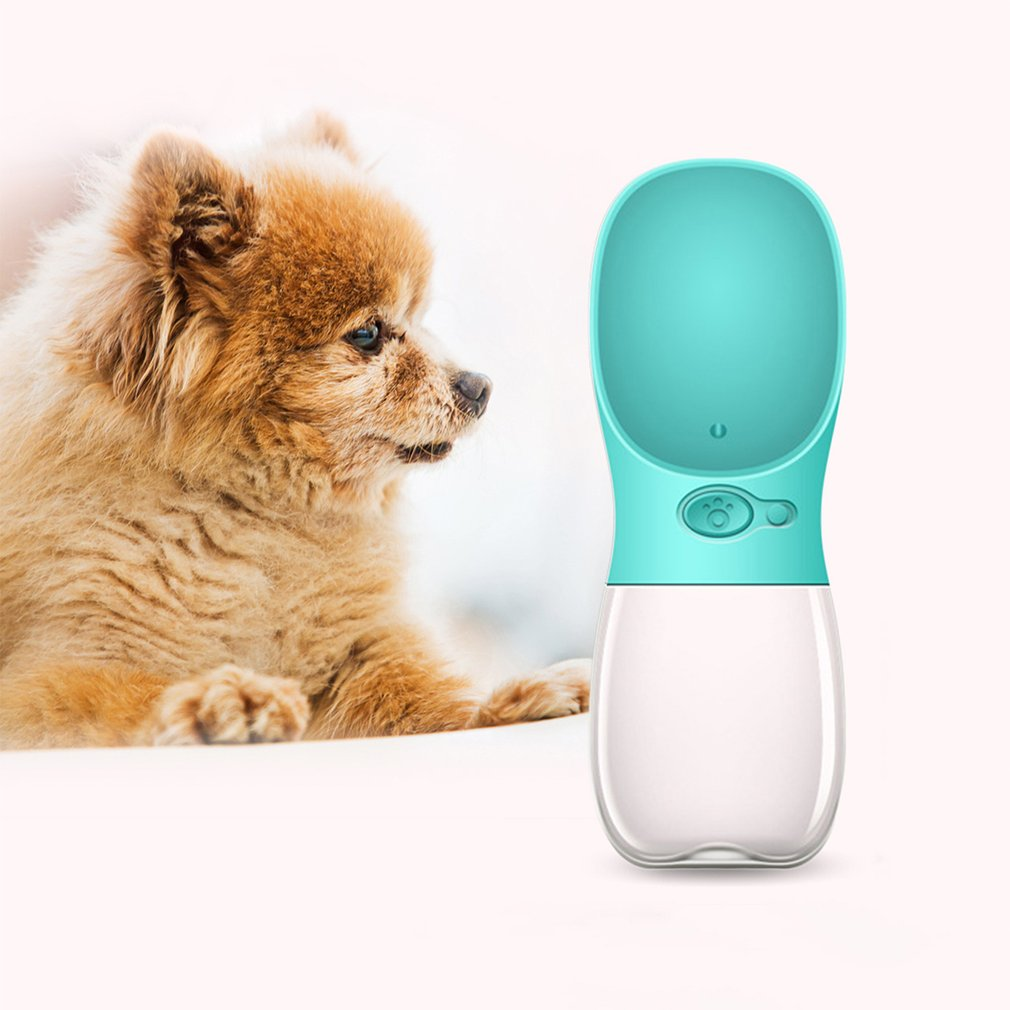 Compact Size 350ML Pets Dogs Feeding Water Bottle Leakproof Outdoor Travel Dog Pets Drinking Water Bottle Tool