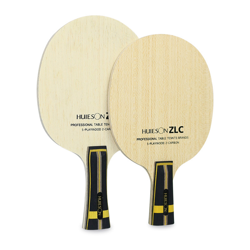 Huieson Professional Table Tennis Training Blade ZLC 5 Plywood 2 Ply ZL Carbon Fiber Ping Pong Blade for Table Tennis Racket DIY table