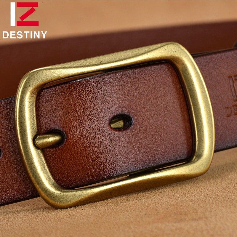 TAKDIR 100% sabuk kulit asli untuk pria mewah terkenal merek desainer - Aksesori pakaian - Foto 4