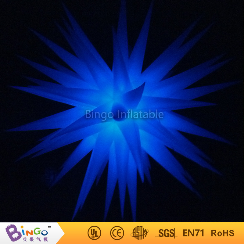 Free Shipping colour changing 2.4 Meters Inflatable led light inflatable star hot sale blow up stars decorations BG-A0362 toy ...