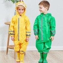 WINSTBROKเด็กเสื้อกันฝนฝนกางเกงเด็กการ์ตูนRainwearกันน้ำGirlและBoy Poncho Impermeableเสื้อกันฝนRain Jumpsuit