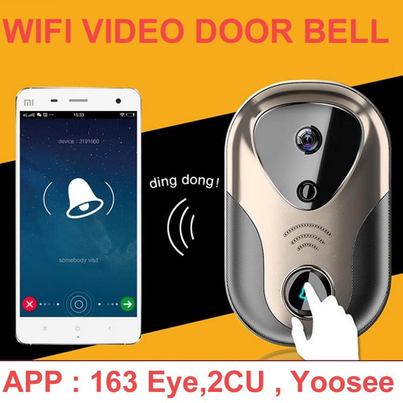 1 0mp video door intercom camera wifi ip camera wireless alarm doorbell hd visual intercom wifi. Black Bedroom Furniture Sets. Home Design Ideas