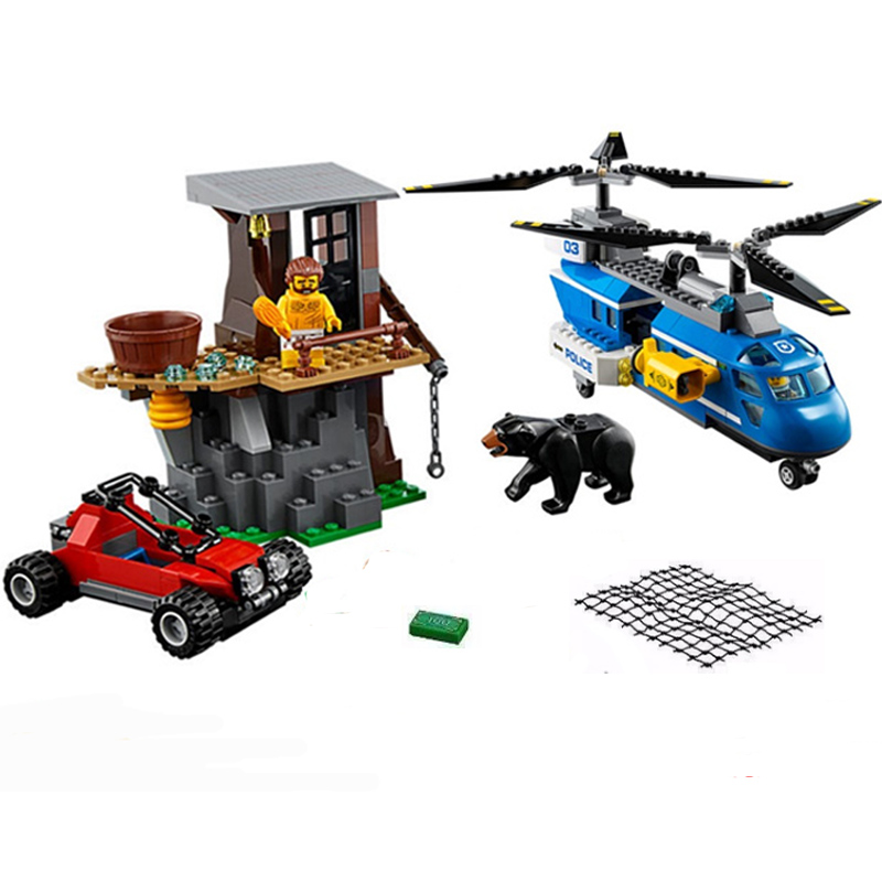 Lepin 02089 Building Blocks Compatible LegoINGly City Police Mountain Arrest Capture 60173 339pcs/Sets