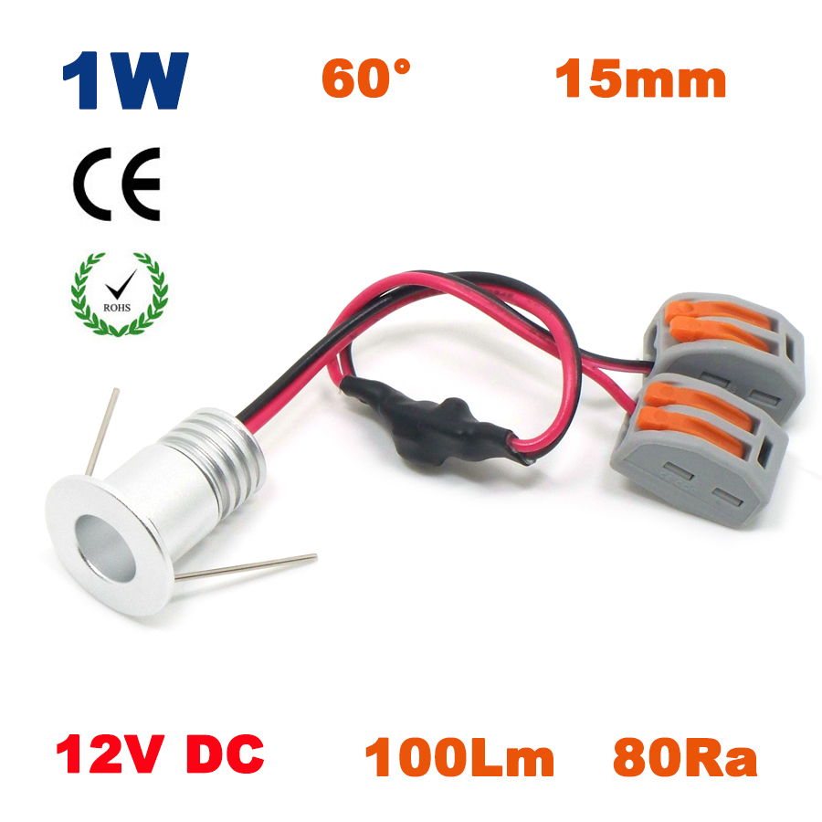 1W DC12V 15mm 100Lm 80Ra COB 1 Watt <font><b>Led</b></font> <font><b>Downlight</b></font> New Fashion Interior Lighting System Living Room Celing Mini Bulb Light image