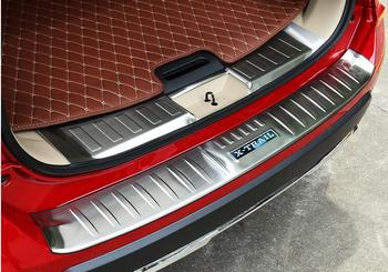 Auto styling Voor 2017 Nissan X-Trail Rogue Rvs Achterbumper Protector Sill Trunk Guard Cover Trim Auto accessoires