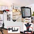 4-12 pulgadas Flexible Ajustable Montaje de La Tableta Del Sostenedor Del Soporte para tablet pc y el teléfono celular titular de la tableta de aluminio soporte de sobremesa