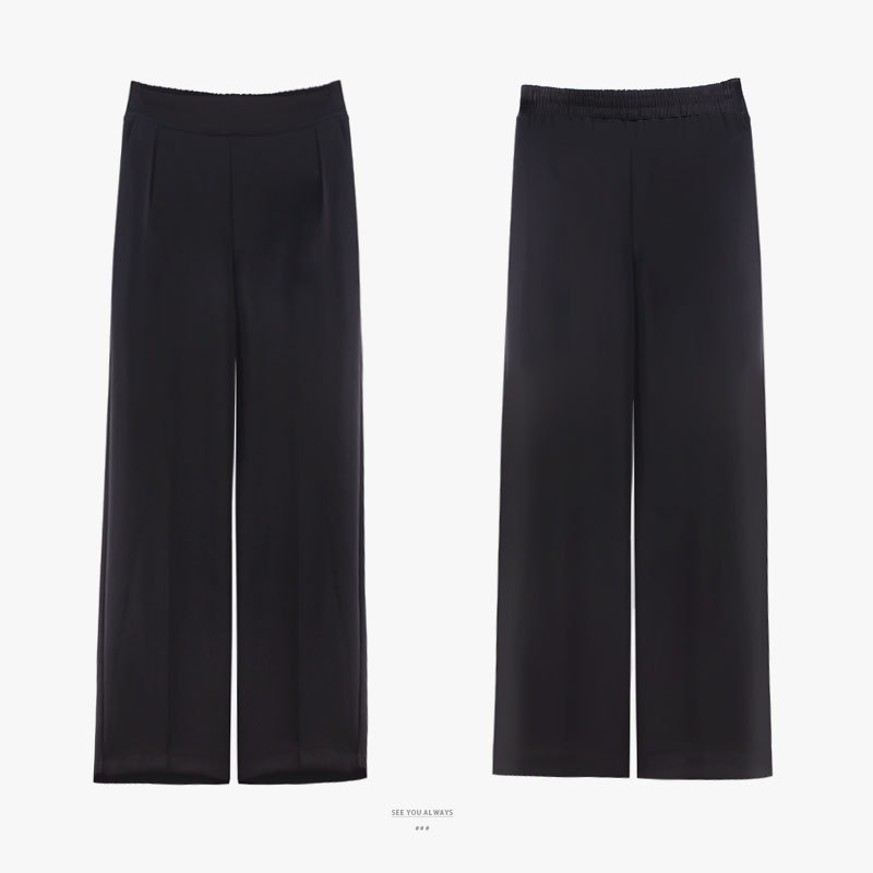 Wide   Legged Trousers Women's Trousers Loosely Chiffon Summer Leisure Tube Early Autumn Winter Fall High Waist   Wide     Leg     Pants