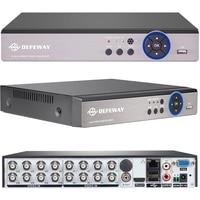 DEFEWAY 16Channel Full 720P H.264 Recording 1080N DVR HDMI CCTV Standalone Hybrid DVR ONVIF Cloud network Mobile Phone view