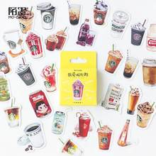 46pcs/box Kawaii Cute Coffee Drink Paper Decoration Stationery Stickers DIY Diary Planner Label Stickers Student Supplies(China)