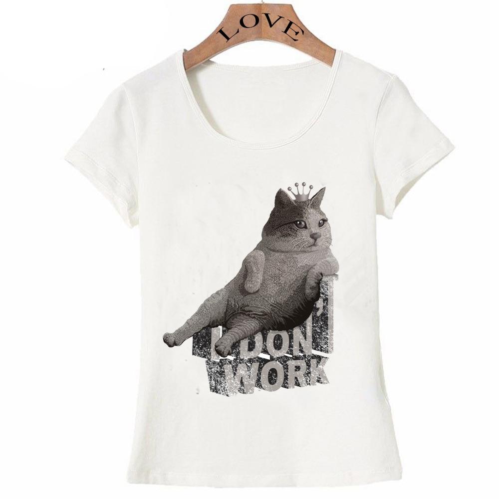 Tier Kawaii Katze Casual Frauen T Shirts 2019 Neue Stil Sommer Cool Cat Lustige T-shirt Kurzarm Weibliche T-Shirt Schlank fit Top T
