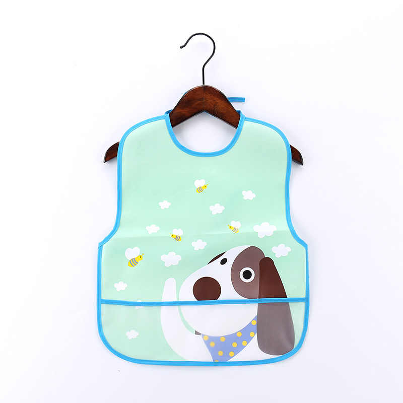 พลาสติก EVA กันน้ำเด็ก Bibs ผ้ากันเปื้อนเด็กทารกสาว Boy ปรับ Bibs Burp ผ้าเด็ก Smock อุปกรณ์เสริม