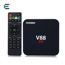 Rockchip 3229 Quad Core 4 K kodi 16 smart V88 TV box android 5.1 media player 1G + 8G HDMI Européenne IPTV set top box XBMC Mini PC