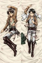Japanese Anime Male Attack on Titan Levi & Eren BL Dakimakura Hugging Body Pillow Cover Case pillowcases covers(China)