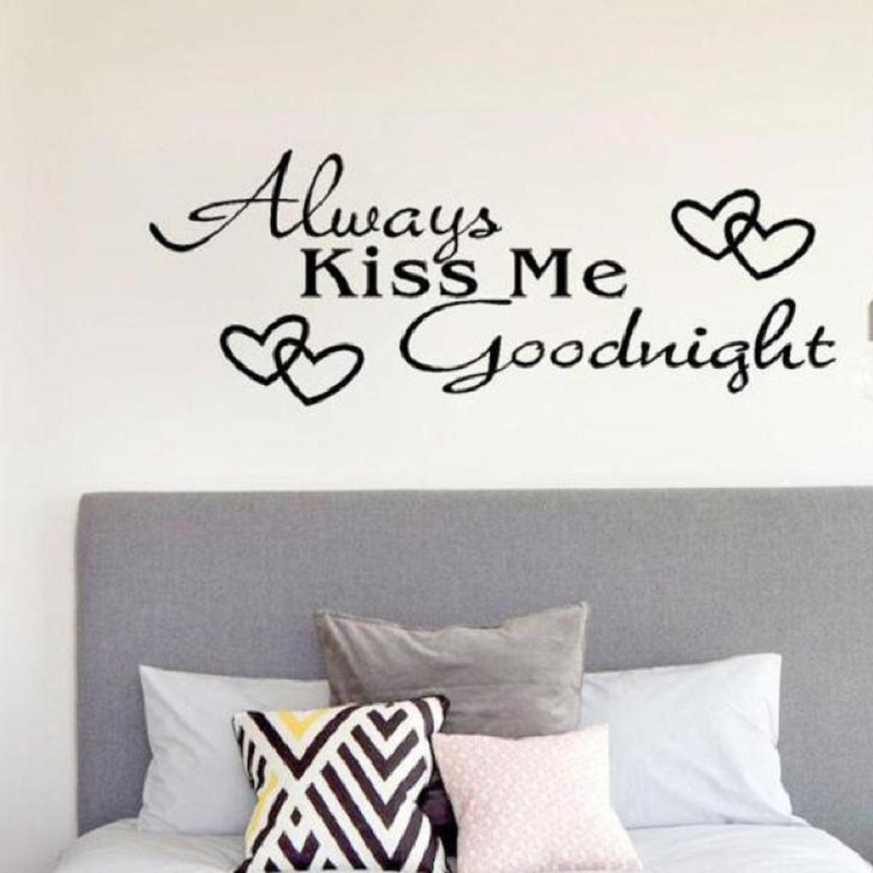 Oc 24 2017 hot selling drop shipping always kiss me goodnight home decor wall sticker decal - Drop shipping home decor plan ...