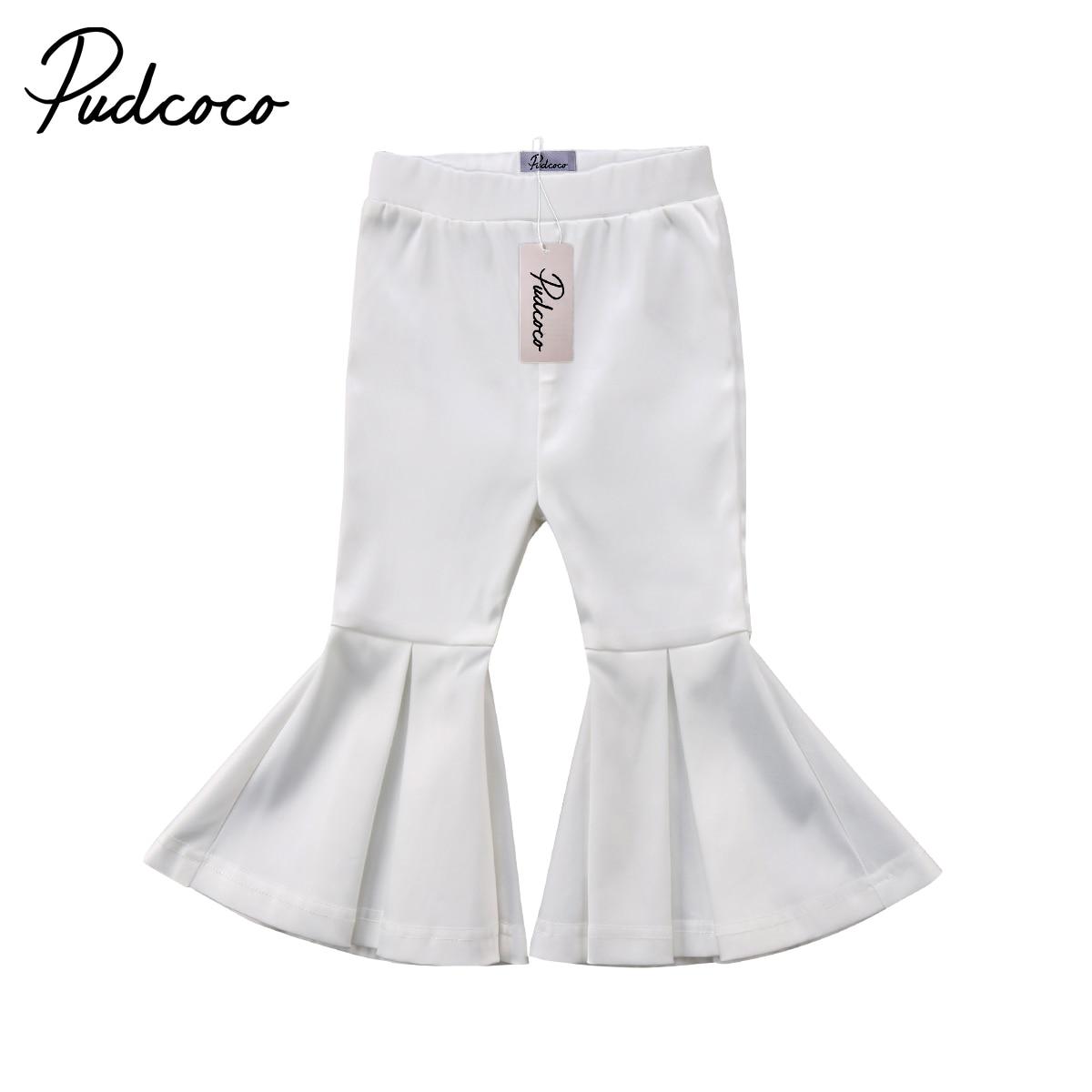 Hosen Mode Mädchen Hosen Kleinkind Kinder Mädchen Weiche Schlaghosen Fester Stretch Flare Pants Boho Fashion Hosen 2-7 T