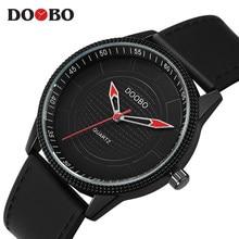 e830c6c86c8 Relógio de quartzo Homens DOOBO Mens Relógios Top Marca de Luxo Famoso  Relógio De Pulso Masculino Relógio de Pulso Simples De Qu.